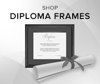 Picture of diploma in frame. Click to shop diploma frames.